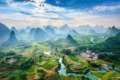 Yangshuo in the southern region of Guangxi
