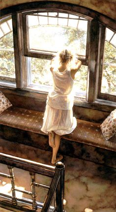 """""""Sunday Afternoon"""" by Steve Hanks; via Art Renewal Center.  http://www.artrenewal.org/pages/artwork.php?artworkid=9685=large"""
