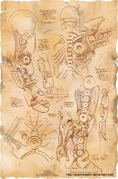 Da Vinci was ahead of his time when it came to many, many of his inventions, so I suppose it stands to reason that he could have in fact invented Iron Man