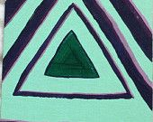 YEAR END SALE 25% off Triangulation acrylic on fiberboard 5 inches x 8 inches