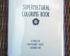 Supernatural Coloring Book By Sweetgeek On Etsy