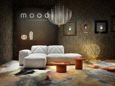 Tapis Walking on Clouds Dusk / Format paysage - 300 x 200 cm - Moooi Carpets Sofa Design, Lamp Design, Interior Design, Lighting Design, Low Tables, Square Tables, Angles, Kartell, Furniture Logo