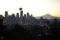 New Year's Day sunrise at Kerry Park in Seattle
