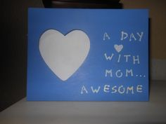 Mom Heart Photo Frame by AngelPaws6 on Etsy