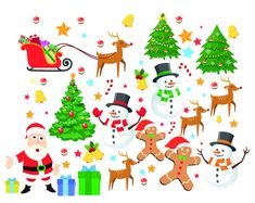 Christmas Elements Digital Clipart Santa Claus Clip Art Snowman Scrapbooking Invitations Christmas Clipart Digital Graphics png 300 dpi Welcome to My shop! INCLUDES 17 digital pictures high resolution Each file is approximately 12 wide at full size 300 dpi. usually 12 x 12 (3600 x 3600 px) PNG files (transparent background) There will be no physical product with your purchase Watermark and drop shadows will not appear in your files Personal and Commercial Use Click Here for more Christmas…