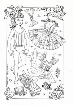 Here is a lovely Stars and Stripes paper doll set for you to color: Coloring For Kids, Adult Coloring Pages, Coloring Books, Dance Crafts, Paper Dolls Clothing, Image Paper, Paper Dolls Printable, Animal Crafts, Colored Paper