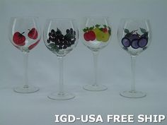 Antique English 8.5 inches Wine Glass 4-Pc Set Hand-Painted Glasses set of 4 Free Ship. XM3007-ITE by Imported Gift Depot. $41.70. High Quality Antique English Wine Glass 4-Pc Set Hand-Painted Glasses set of 4 Free Ship.. Manufactured At The Highest Quality Available.. Design Was Stylish And Innovative Satisfaction Ensured.. It Makes A Great Gift For Any Occassion and Someone Special.. One Of The Best And Gorgeous Imports Available At The Imported Gift Depot.. High Quali...