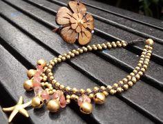 Thai Handmade jingle bells gold brass Tourmaline anklet loveley by Nannapatt on Etsy, $8.50