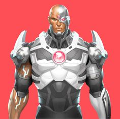 Victor Stone as Cyborg Cyborg Dc Comics, Arte Dc Comics, Anime Comics, Comic Book Characters, Comic Books Art, Comic Art, Fictional Characters, Univers Dc, Black Comics