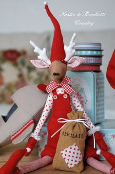 Christmas reindeers English PDFby Nastrierocchettishop on Etsy, €7.00