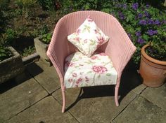 Recently refurbished Lloyd Loom chair with matching cushion