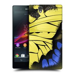 e_cell - Head Case Machaon Illustrated Butterfly Wing Back Case for Sony Xperia Z