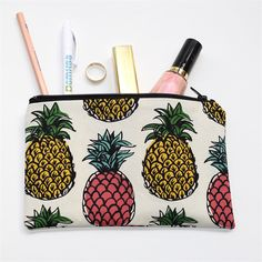 Pineapple Zipped Pouch or Pencil case from MyOneBrownMouse