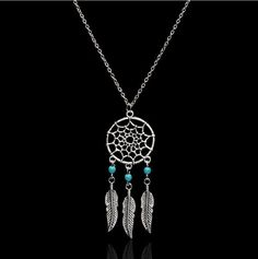 We absolutely love this new dream catcher necklace and we know you will too. That's why we are offering it with FREE SHIPPING, for a LIMITED TIME ONLY Material: Silver Plated Alloy. Necklace length: 5