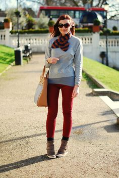 Grey marl and red by Not Dressed As Lamb, via Flickr