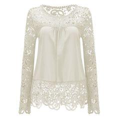 lztlylzt Summer Chiffon Lace Blusa Blouse Chemise Femme Plus Size Blusas Long Sleeve Women Tops Shirt Women Clothes