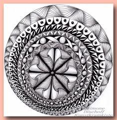 Im Kreis gezeichnet