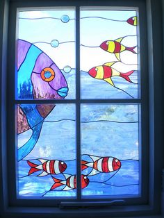 I prefer a clear glass window with a private angle, and a nice view, but if I can't have that, I prefer stained glass like this gorgeousness to random translucent glass.
