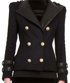 5c1860305cb Balmain Military Jacket Black Military Jacket, Military Field Jacket,  Military Style Jackets, Balmain