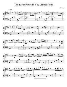 river flows in you piano sheet easy pdf