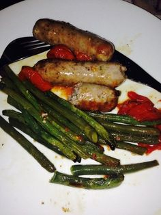 Roasted veg with Heck sausages - The Blood Sugar Diet by Michael Mosley