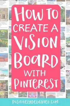 What is a vision board? It's a visual representation of your goals, dreams, inspiration, and desires! It's a tool to help you visualize and manifest what you want in life. It uses the law of attraction and power of positive thinking to make your dreams come true! Since Pinterest is awesome & has unlimited images to pin, it seemed the perfect tool to use to make a digital vision board! Learn how to make a vision board with Pinterest! #visionboard #manifesting #lawofattraction Digital Vision Board, Vision Board Images, Pinterest Vision Board, Creating A Vision Board, Create A Board, Dream Quotes, Positive Mindset, Law Of Attraction, Personal Development