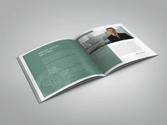 Annual Report InDesign Square Brochure on Behance
