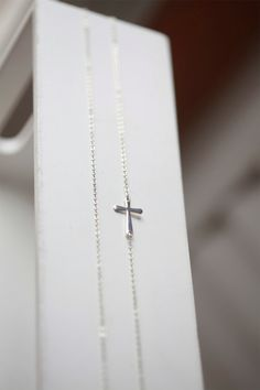 Celebrity Necklace  LONG Side ways Cross Necklace  Kelly by Bijjou, $15.00
