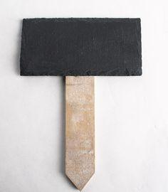 Natural Slate Chalkboard Stake