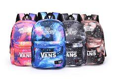 NEW 30 style School Youth Trend schoolbag 2016 new ladies female man shoulder bag backpack VANS Escolar bolsas mochila US Nina