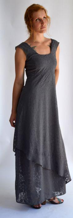 Kleid  Windrose grauChiffonAbendkleidSommer von FriederikeZobel,