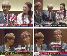 """Hahaha Oh Luhan ... I can't stand your manliness ... (Yup, that ""Oh"" there is no coincidence, Hunhan forever ;)"