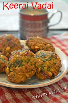 Tasty Appetite: KEERAI VADAI ( SPINACH VADAI ) / SPINACH FRITTERS / HEALTHY SNACKS RECIPES / STEP BY STEP