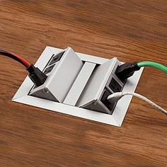 Medium Dual Flip-Up Grommet. It would be nice to have an outlet in the center of my great room... can't run an extension cord