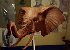 Bronze Sculpture, Wood Sculpture, Wiccan Rituals, Pottery Handbuilding, Elephant Sculpture, Paper Mache Crafts, Modelos 3d, Ceramic Animals, Animal Heads