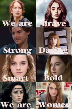 Katniss (The Hunger Games) Clary (The Mortal Instruments) Hazel (The Fault in our Stars) Claire (Jurassic World) Hermione (Harry Potter) Tris (Divergent) Teresa (The Maze Runner) and Margo (Paper Towns) WOMEN UNITE! Strong Girls, Strong Women, Margo Paper Towns, Jorge Ben, Citations Film, Tribute Von Panem, Fandom Quotes, Book Memes, Girls Rules