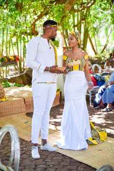 South african wedding dress - A Stylish Venda Wedding – South african wedding dress South African Wedding Dress, African Bridal Dress, African Wedding Theme, African Traditional Wedding Dress, African Wedding Attire, Traditional Wedding Attire, South African Weddings, African Print Dresses, African Print Fashion
