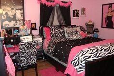 Zebra+Bedroom+Ideas | Modern Bedroom Ideas for Teenage Girls Zebra Colour Chairs