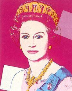 Andy Warhol, Queen Elizabeth  kinda looks like Julia Roberts