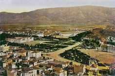 https://flic.kr/p/bNAir8 | Central Athens 1900 | View of Athens from the Acropolis, circa 1900. Shows Zappeion, the Stadium, the Rotunda (demolished 1915), Amalias Avenue with Hadrian's Arch and the Temple of Jupiter.  Scanned with significant colour adjustments and improvements from a low quality postcard of circa 1900, copyright expired.  Image file source: scanned from private collection of MBE
