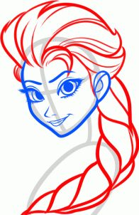 how to draw elsa, elsa the snow queen from frozen step 5