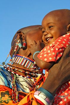Africa | 'I was visiting the Lenkisem Mission in Kenya where I used to work as a volunteer missionary. The Maasai girl called Rose and she was happy to reunite with his mother.' | Image and caption © Laura Terán