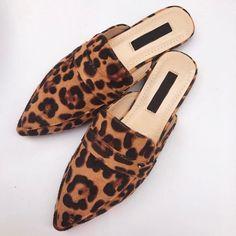 Womens Slippers, Womens Flats, Mules Shoes Flat, Toe Shoes, Women's Mules, Women Slides, Leopard Shoes, Summer Flats