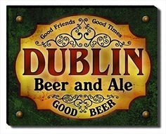 Dublin Beer & Ale Stretched Canvas Print ZuWEE…