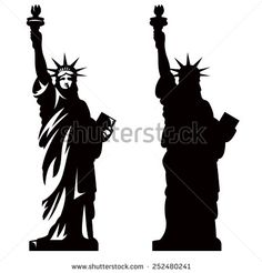 Statue Liberty New York Landmark American Stock Vector (Royalty Free) 252480241 Statue Of Liberty Drawing, Liberty Tattoo, New York Landmarks, Liberty New York, Nyc Tattoo, American Stock, American Symbols, Cameo, Vector Clipart