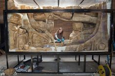 The new Komodo dragon exhibit at the Bronx Zoo, a slice of Papua New Guinea, opens in September. Meet some of the zoo's artists at work on this lush lizard home at Zoo Center: http://nyti.ms/13MDXSK Photo by Julie Larsen Maher ©WCS  #TheMilfordNYC #NewYorkCity #BronxZoo