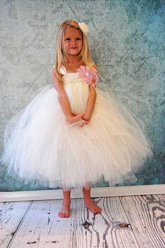 Free Shipping to US Ivory Cream Flower Girl  Tutu by PoshPixieTutu, $65.00
