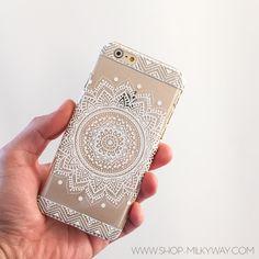Clear Plastic Case Cover for iPhone 5 5S - (Henna) Sundala Mandala – milkyway