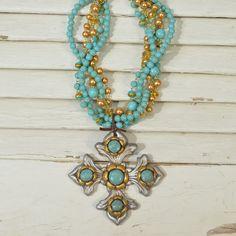 Sookie Sookie Texarkana Cross Necklace  - AMaVo