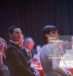 Fotografia de notícias : Coco Rocha and Luke Evans attend the amfAR Milano...